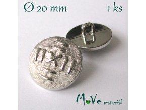 Knoflík ozdobný 20mm/1ks, stříbrný