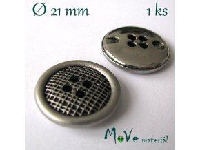 Knoflík ozdobný čtyřdírkový 21mm/1ks