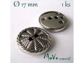 Knoflík ozdobný dvoudírkový 17mm/1ks