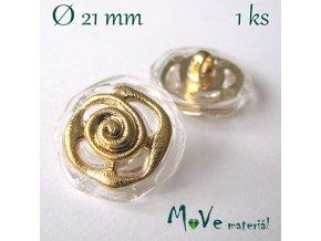 Knoflík ozdobný 21mm/1ks