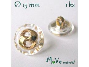 Knoflík ozdobný 15mm/1ks