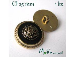 Knoflík ozdobný se lvem 25mm/1ks