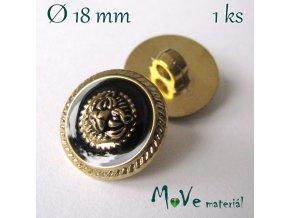 Knoflík ozdobný se lvem 18mm/1ks
