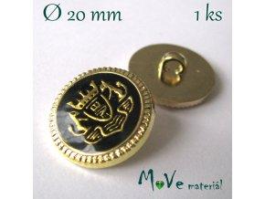 Knoflík ozdobný s erbem 20mm/1ks