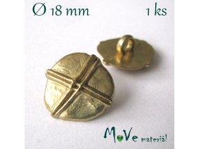 Knoflík kovový ozdobný 18mm/1ks