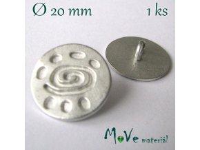Knoflík kovový ozdobný 20mm/1ks