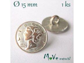 Knoflík kovový ozdobný 15mm/1ks