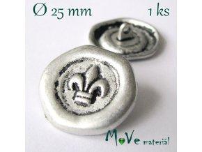 Knoflík kovový ozdobný 25mm/1ks