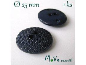 Knoflík ozdobný dvoudírkový 25mm/1ks