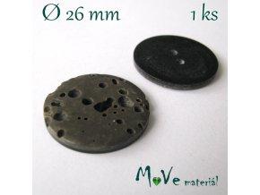 Knoflík ozdobný dvoudírkový 26mm/1ks