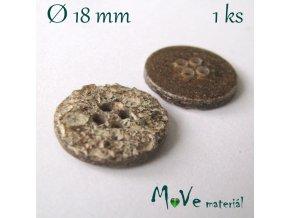 Knoflík ozdobný dvoudírkový 18mm/1ks