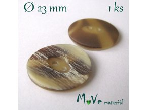 Knoflík ozdobný dvoudírkový 23mm/1ks