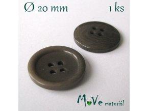 Knoflík ozdobný čtyřdírkový 20mm/1ks