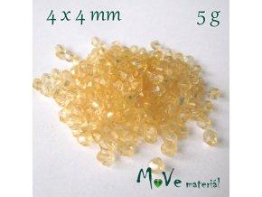 Korálek plast - sluníčko 4x4mm, 5g, žluté