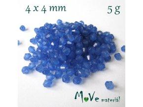 Korálek plast - sluníčko 4x4mm, 5g, modré