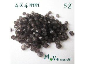 Korálek plast - sluníčko 4x4mm, 5g, černé