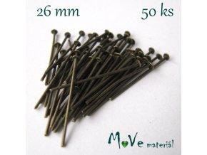 Ketlovací nýt mosazný 26mm, 50ks
