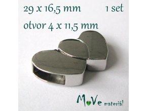 Magnetické zapínání 29x16,5mm 1sada, platina