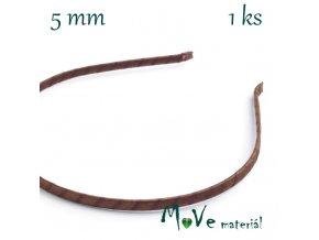 Čelenka jednoduchá potažená hnědá/5mm