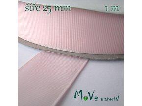 Stuha rypsová 25mm 1m, růžová