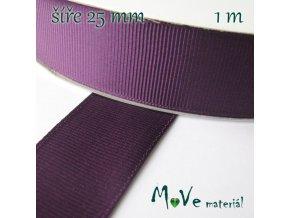 Stuha rypsová 25mm 1m, fialová