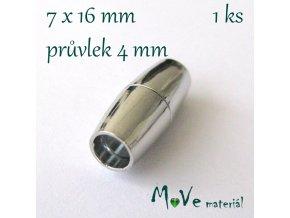 Magnetické zapínání 16x7mm 1ks, platina