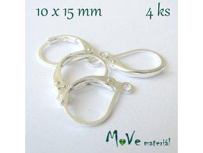 Naušnicové háčky s očkem (2páry), stříbrné