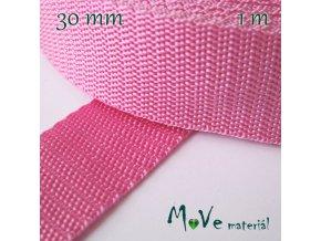 Popruh polypropylénový šíře 30mm, 1m, růžový