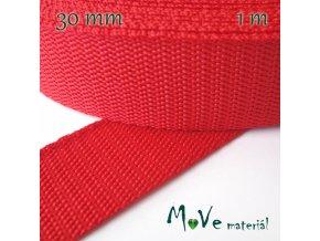 Popruh polypropylénový šíře 30mm, 1m, červený