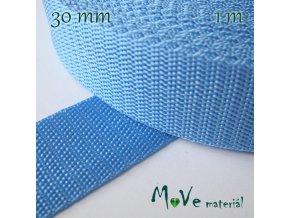 Popruh polypropylénový šíře 30mm, 1m, modrý
