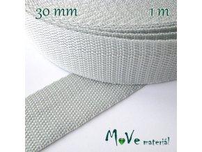 Popruh polypropylénový šíře 30mm, 1m, šedý