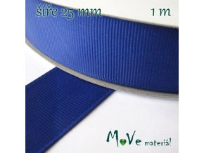 Stuha rypsová 25mm 1m, modrá
