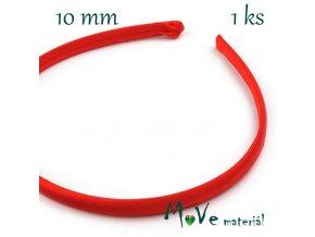 Čelenka jednoduchá potažená červená 10mm