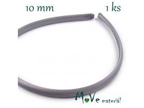 Čelenka jednoduchá potažená šedá 10mm