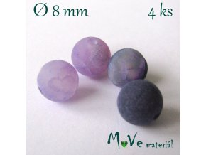 Achát - 8mm/4ks, fialový