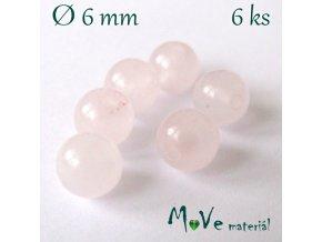 Růženín - 6mm/6ks, růžový