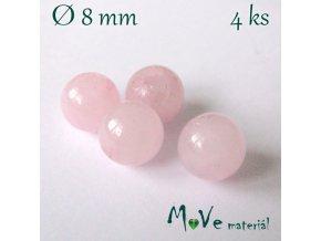 Růženín - 8mm/4ks, růžový