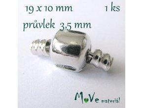Evropské zapínání 19,5x10mm 1sada, platina