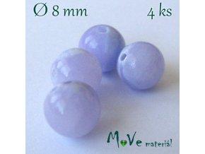 Jadeit - 8mm/4ks, fialový