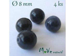 Sodalit - 8mm/4ks, modrý