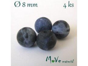 Sodalit - 8mm/4ks, modrý, matný