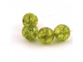 Olivín - 6mm/4ks, zelený