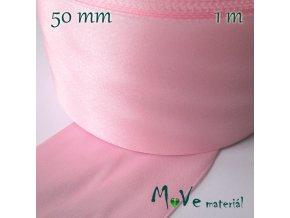 Stuha atlasová jednolící 50mm, 1m, růžová