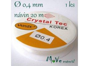 Vlasec silikon elastický 0,4mm/20m průhledný