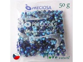 Český rokajl 50g, modrý mix
