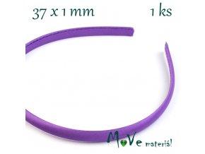 Čelenka jednoduchá potažená fialová 10mm