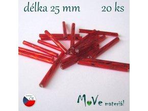 Rokajl 25x2mm, 20ks, tyčky, červené
