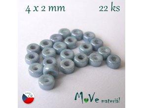 CZECH HEISHI 4x2mm/22ks, šedomodré