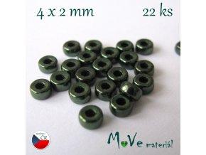 CZECH HEISHI 4x2mm/22ks, zelené
