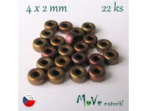 CZECH HEISHI 4x2mm/22ks, mix